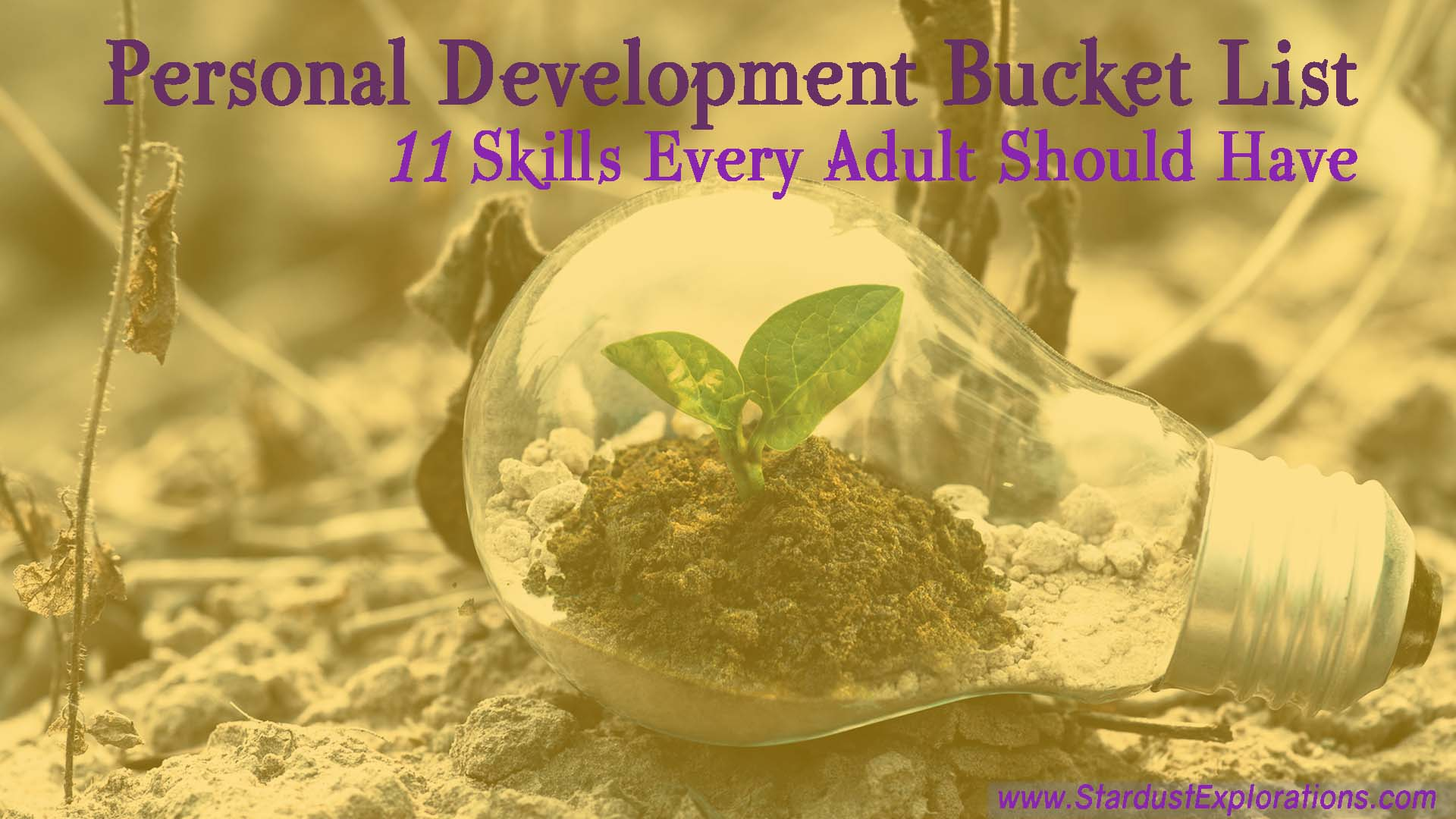 personal development bucket list 1